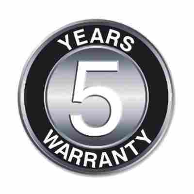 Agreto 5 years warranty