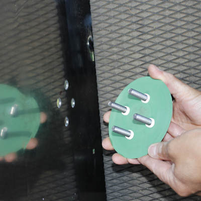 Einbaufeuchtemesser Senorplattenset Montageschritt 3