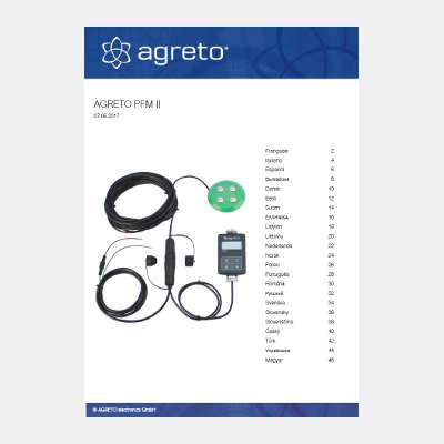 Handbuch mehrsprachig Einbaufeuchtemesser Agreto PFM