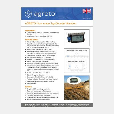 Datenblatt Agreto AgriCounter Vibration