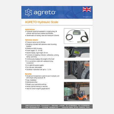 Datasheet Agreto Hydraulic forklift scale