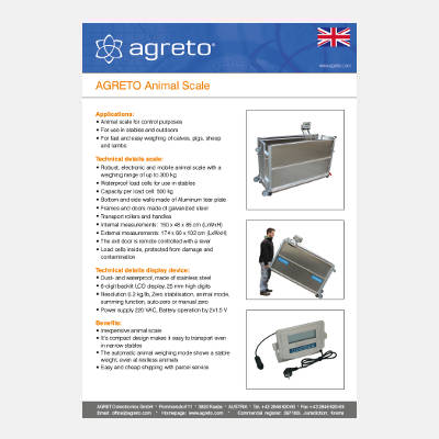 Datasheet Agreto Pig scale