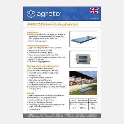 Datasheet Agreto Platform Scale galvanized