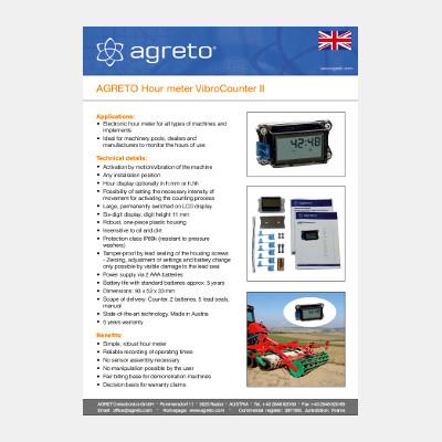 Datasheet Agreto Vibro Counter II