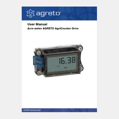 Manual Agreto AgriCounter Drive